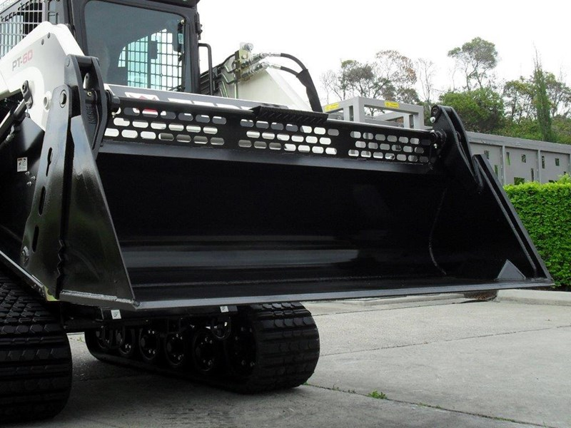 rhino 4 in 1 bucket - buckets to suit bobcat cat skid steer loaders [1880 mm] [attbuck] 415430 004
