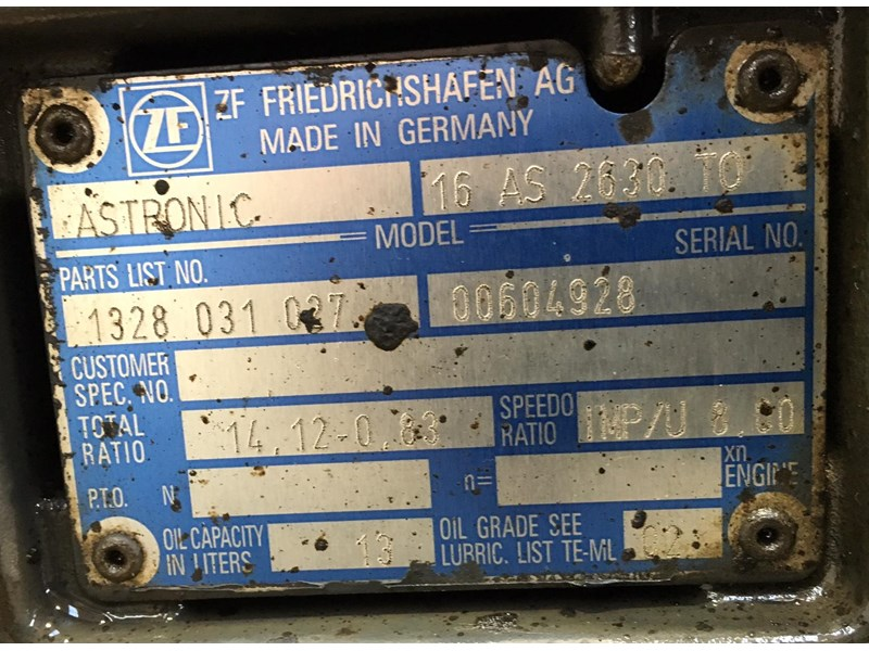 zf transmissions 16as2630 415655 002