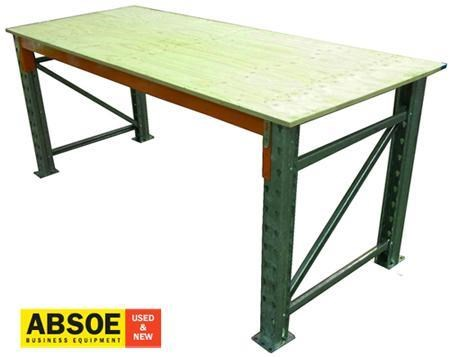 work benches pallet racking - ply board top - 2400mm wide - workbench 418682 001