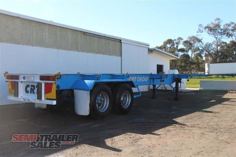 barker 40ft skel semi trailer with 4 way pins 419558 003