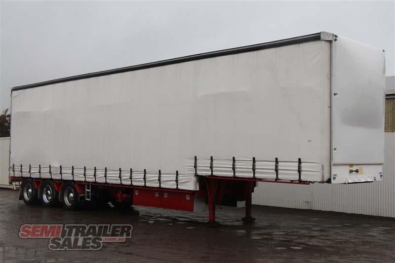 cimc 45ft drop deck curtainsider semi trailer with mezz decks 408769 002