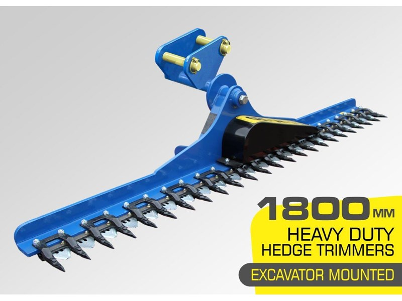 rhino 1800 mm hydraulic hedge trimmers. suit 1.5t to 8.0t excavators [hc180] [atttrim] 419952 001