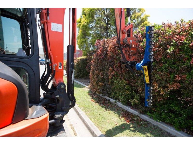 rhino 1800 mm hydraulic hedge trimmers. suit 1.5t to 8.0t excavators [hc180] [atttrim] 419952 005