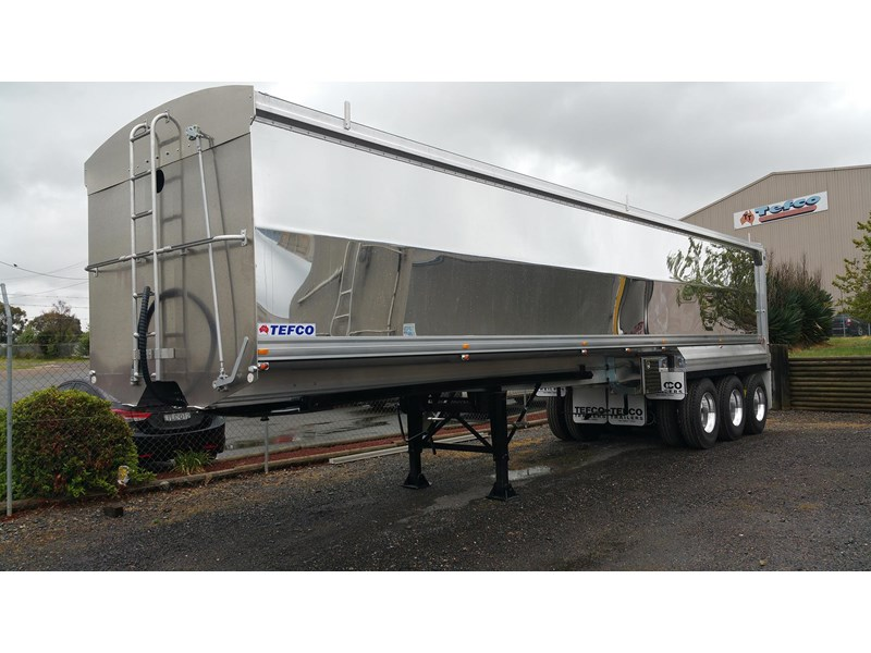 tefco new 36' x 6' aluminium grain spec trailer. 297584 002