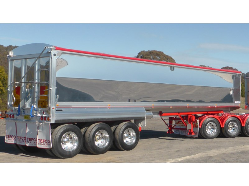 tefco new 36' x 6' aluminium grain spec trailer. 297584 001