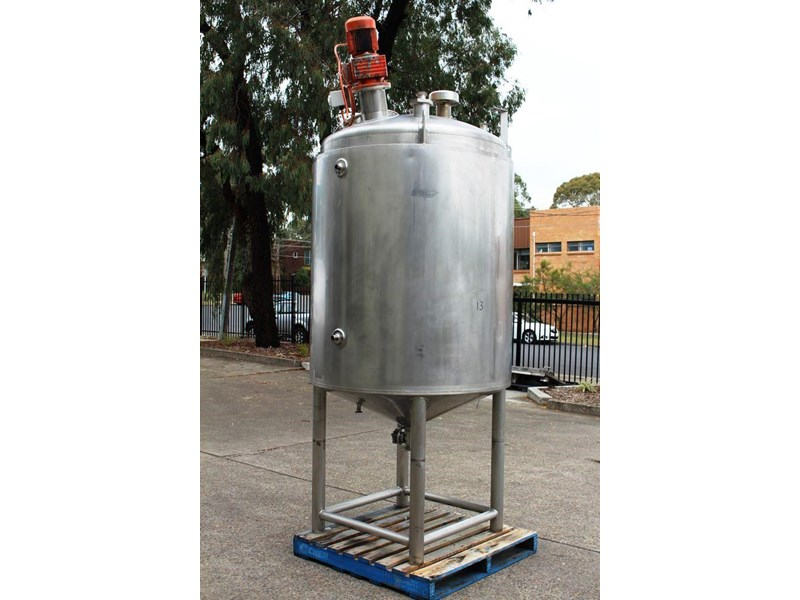 apv stainless steel jacketed mixing tank 422583 002