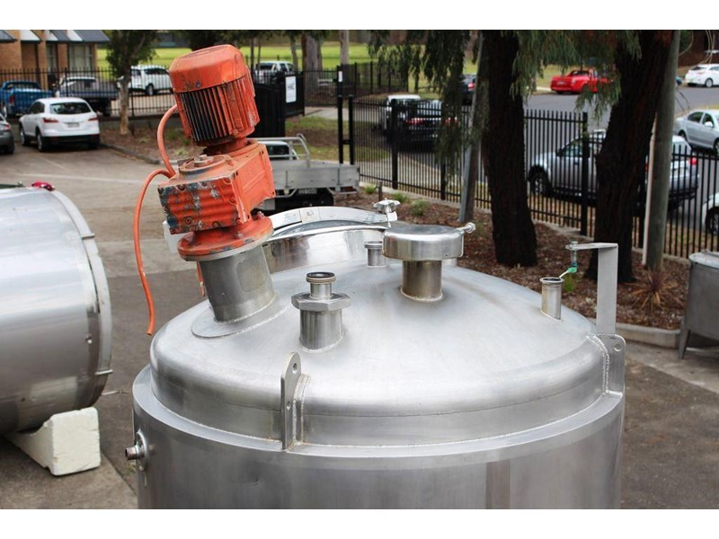 apv stainless steel jacketed mixing tank 422583 004