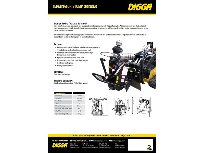 digga terminator mini stump grinder 423176 002