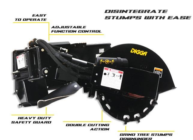 digga skid steer stump grinder 423177 001