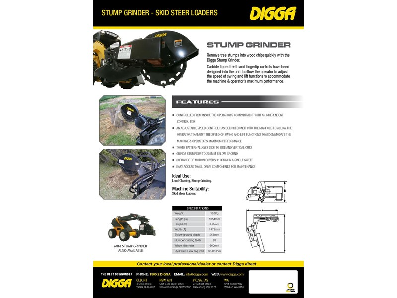 digga skid steer stump grinder 423177 005