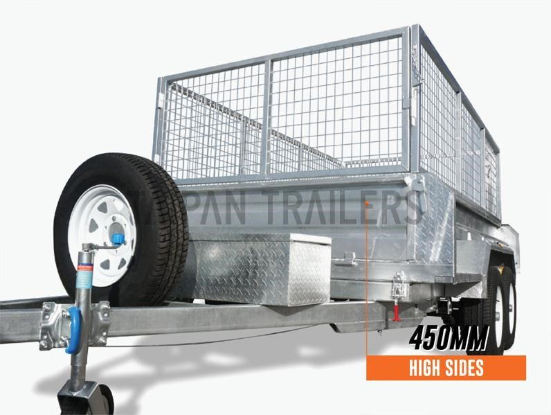 taipan 10×5 tandem axel flat top hydraulic tipper trailer 424395 002