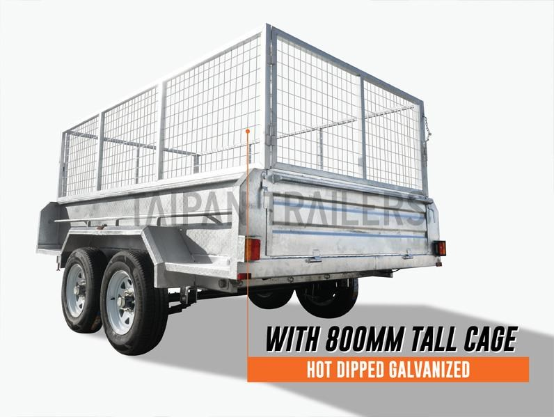 taipan 10×5 tandem axel flat top hydraulic tipper trailer 424395 003