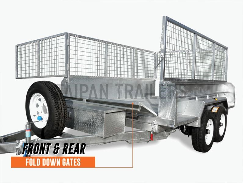 taipan 10×5 tandem axel flat top hydraulic tipper trailer 424395 011