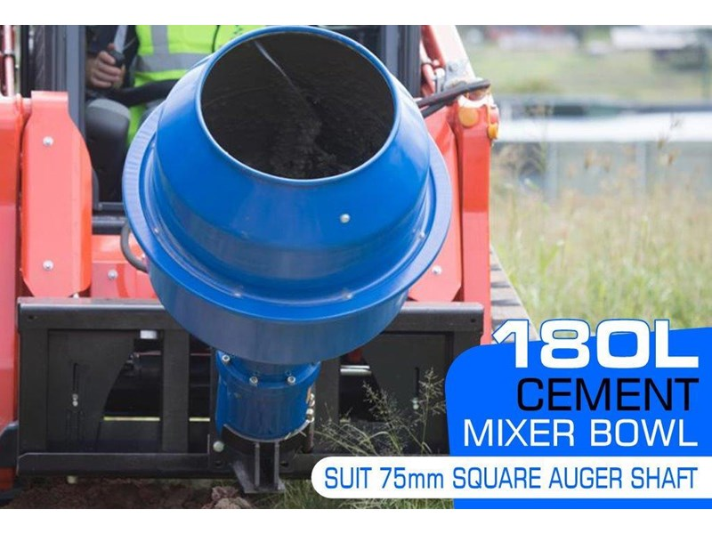 auger torque 180l cement mixer bowl (75mm square earth drill / auger shaft) [attaug] 424569 002