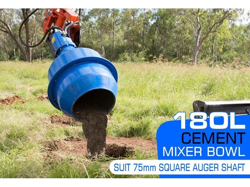 auger torque 180l cement mixer bowl (75mm square earth drill / auger shaft) [attaug] 424569 001