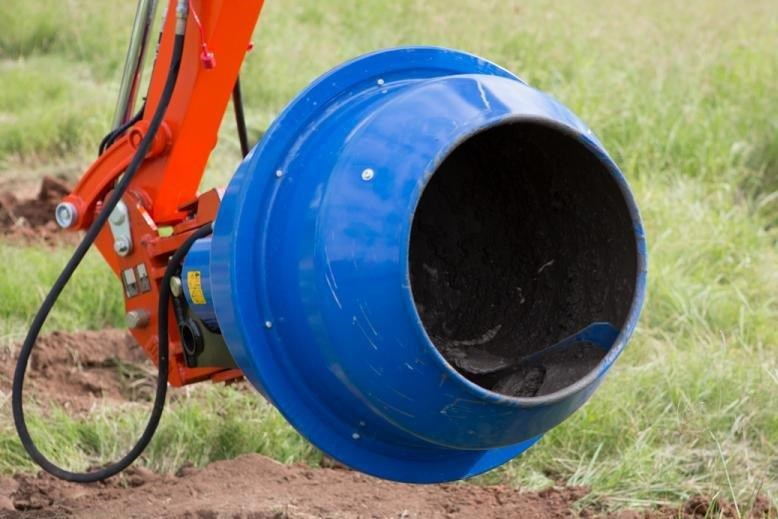 auger torque 180l cement mixer bowl (65mm round earth drill / auger shaft)[attaug] 424705 008