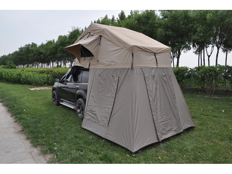 kylin campers 4-person canvas roof top tent + tent room 425378 008
