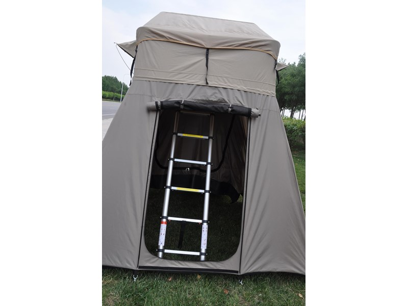 kylin campers 4-person canvas roof top tent + tent room 425378 010