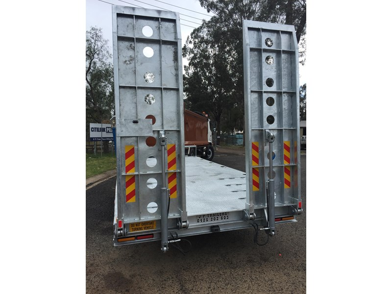 jp trailers galvanised mini tag trailer plus brown tipper 425289 031