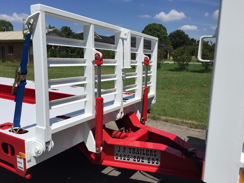 jp trailers red single axel plant trailer 425295 006