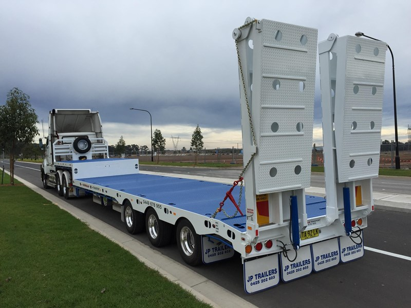 jp trailers tri axel drop deck trailer 425328 004