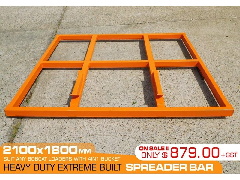 other heavy duty extreme built 2100 mm width levelling bars attachments / 2100mm x 1800mm spreader bars [attbars] 427523 002