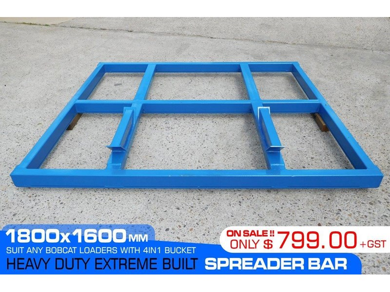 other heavy duty extreme built 1800mm x 1600mm spreader bars / 1800 mm width levelling bars attachments [attbars] 427658 001
