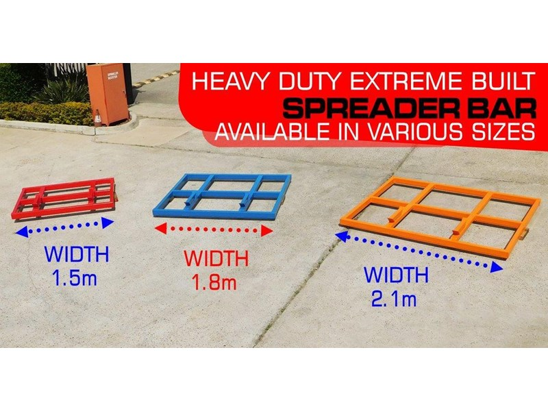 other heavy duty extreme built 1800mm x 1600mm spreader bars / 1800 mm width levelling bars attachments [attbars] 427658 003
