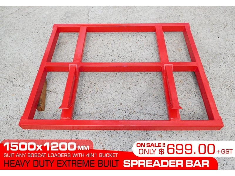 other heavy duty extreme built 1500 mm width levelling bars attachments [attbars] / 1500mm x 1200mm spreader bars 427771 002