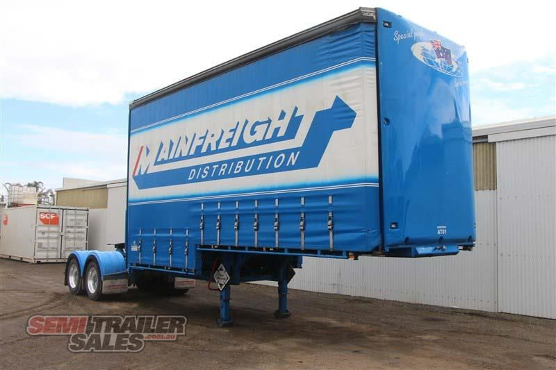krueger 10 pallet drop deck curtainsider semi a trailer with mezz decks 428292 002