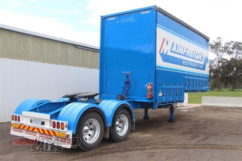 krueger 10 pallet drop deck curtainsider semi a trailer with mezz decks 428292 003