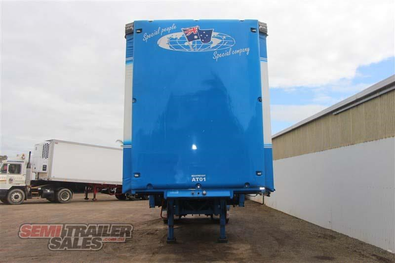 krueger 10 pallet drop deck curtainsider semi a trailer with mezz decks 428292 004