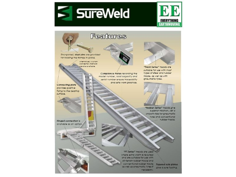 sureweld aluminium loading ramps call everything earthmoving 1300 43 44 33 429553 006
