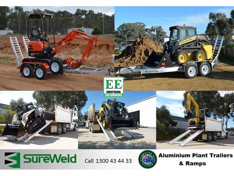 sureweld aluminium loading ramps call everything earthmoving 1300 43 44 33 429553 033
