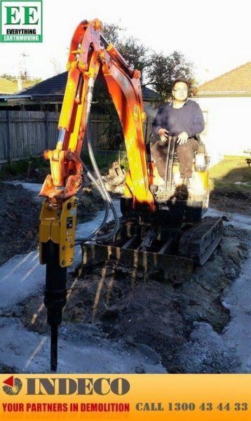 indeco indeco hp150 rock breaker for mini excavators up to 2.5 tonnes 429945 009