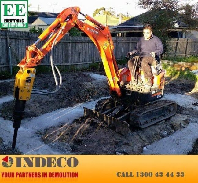 indeco indeco hp150 rock breaker for mini excavators up to 2.5 tonnes 429945 010