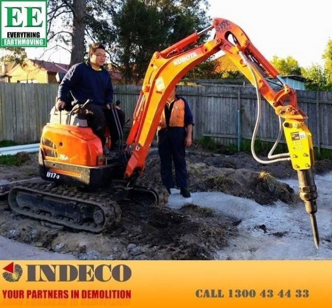 indeco indeco hp150 rock breaker for mini excavators up to 2.5 tonnes 429945 011