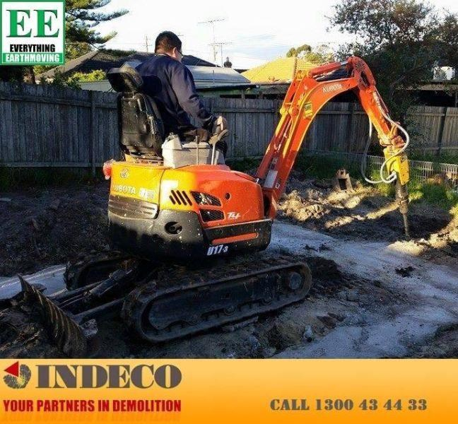 indeco indeco hp150 rock breaker for mini excavators up to 2.5 tonnes 429945 012