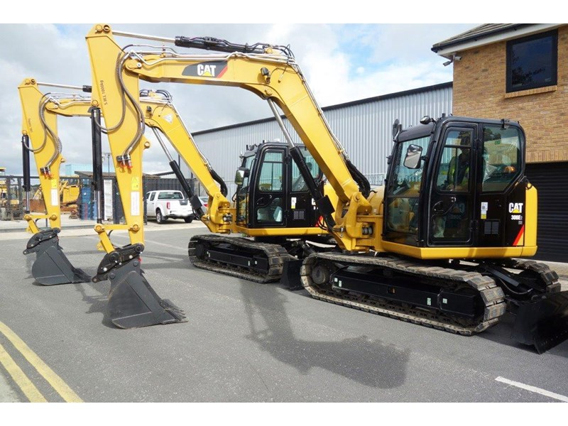 caterpillar #308einc04 308e2.cr 8.4 ton cat 308.e2 steel tracks excavator fitted with rubber pads [unused 7.2 hrs] [machexc] 430252 002