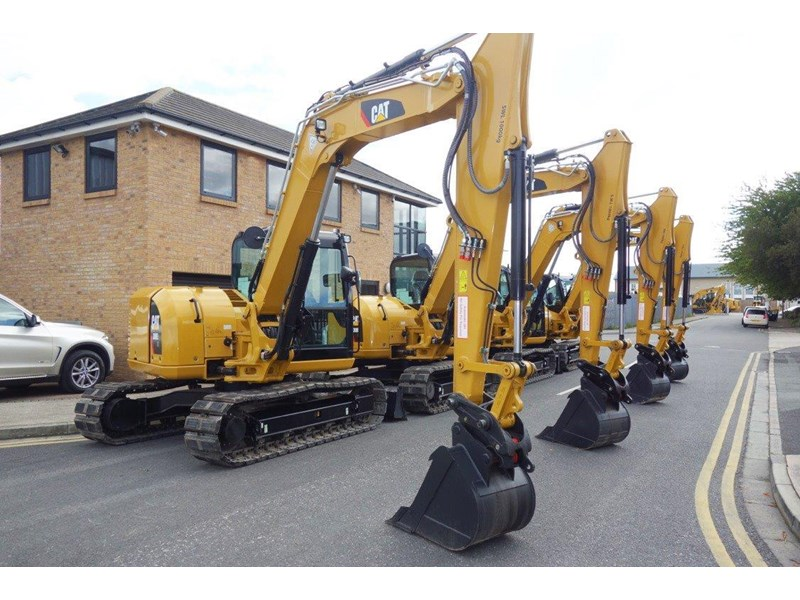 caterpillar #308einc04 308e2.cr 8.4 ton cat 308.e2 steel tracks excavator fitted with rubber pads [unused 7.2 hrs] [machexc] 430252 003