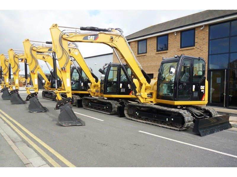 caterpillar #308einc05 308e2.cr 8.4 ton cat 308.e2 steel tracks excavator fitted with rubber pads [unused 8.8 hrs] [machexc] 430253 003