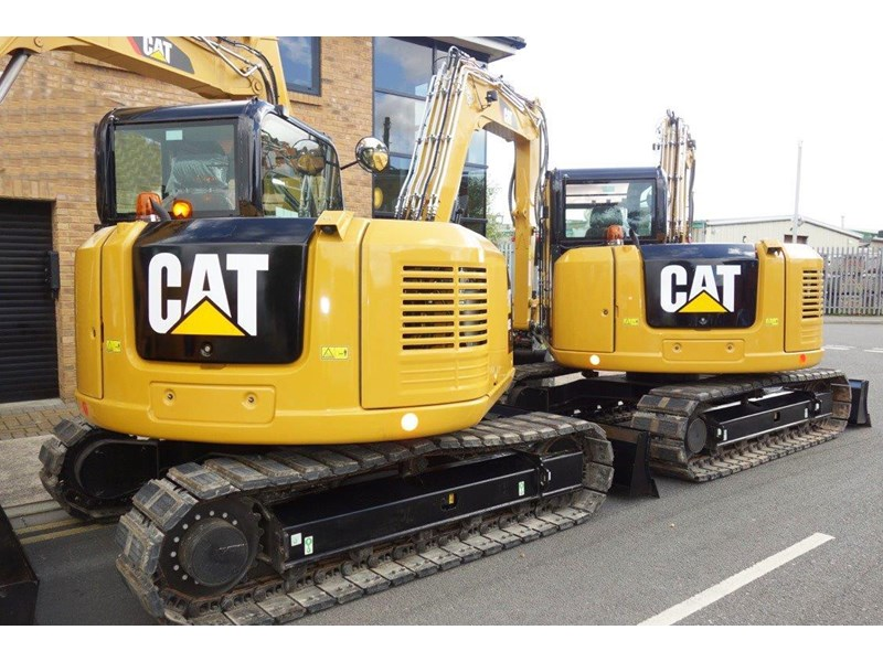 caterpillar #308einc04 308e2.cr 8.4 ton cat 308.e2 steel tracks excavator fitted with rubber pads [unused 7.2 hrs] [machexc] 430252 007