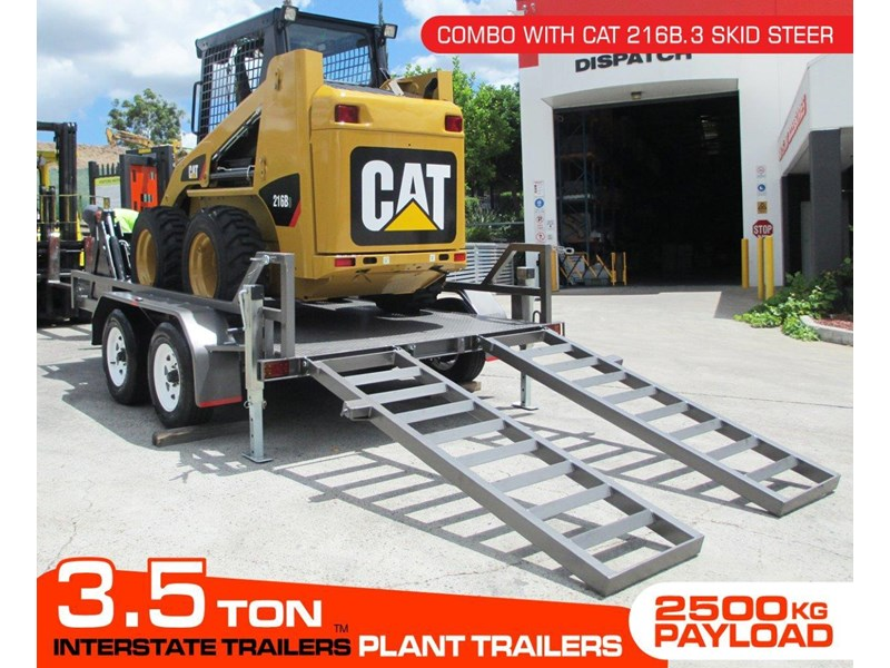 caterpillar 216b.3 + 3.5 ton plant trailer 234636 002