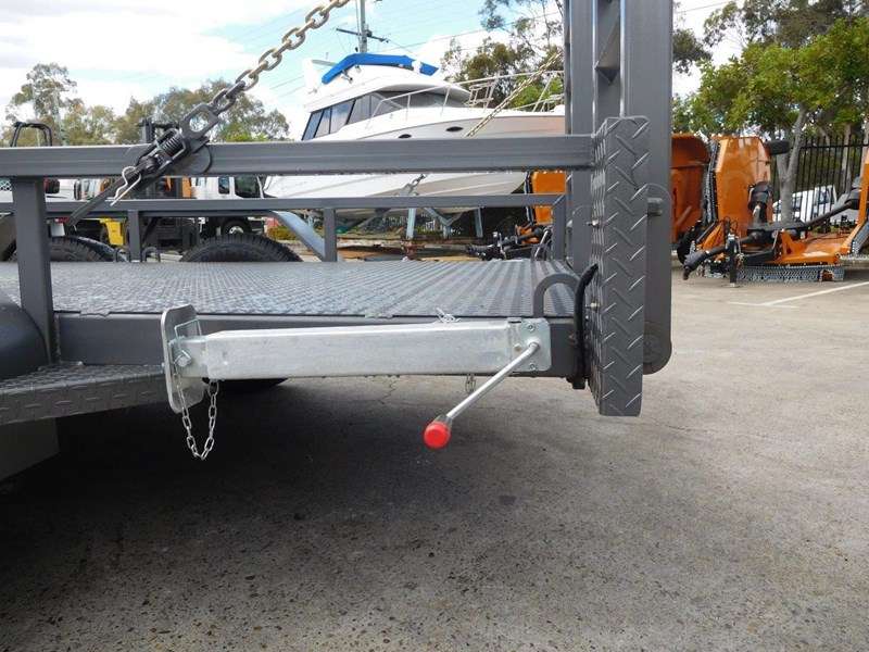 interstate trailers 4.5 ton plant trailer + caterpillar 216b.3 cat 216.b3 skid steer loader  [mcombo] [attrail] 234616 012