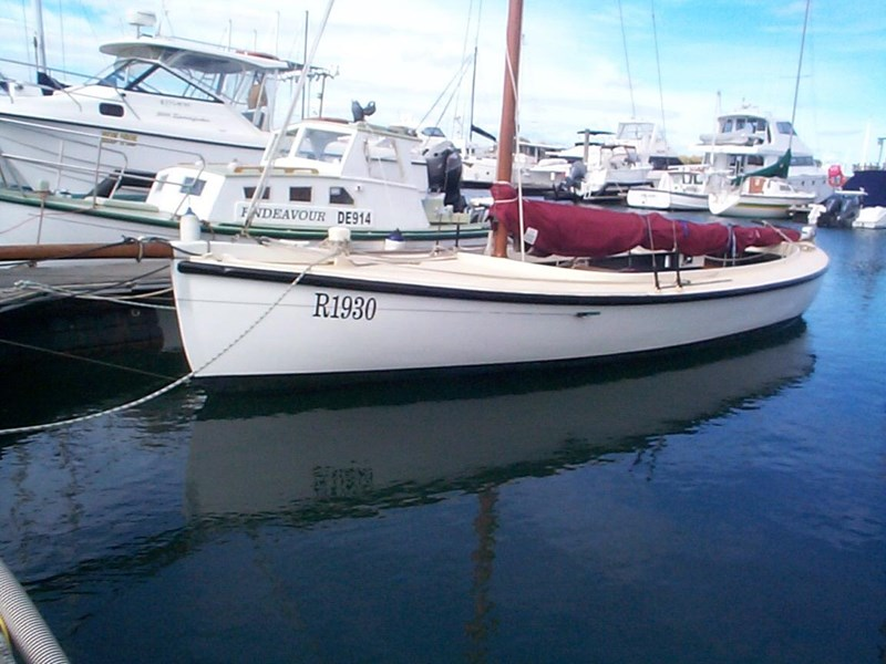 wooden yacht 29' timber netting boat 432162 001