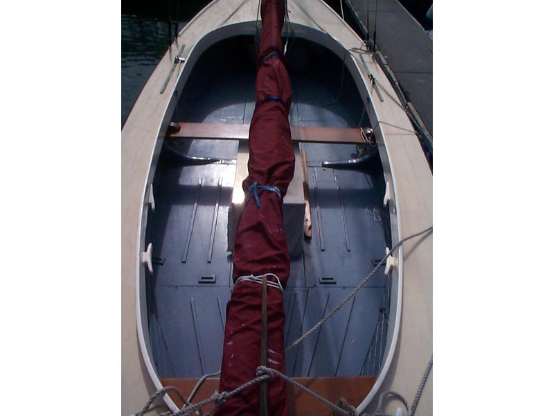 wooden yacht 29' timber netting boat 432162 003