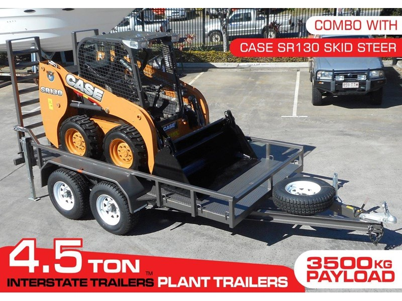interstate trailers 4.5 ton plant trailer + case sr130 311887 002
