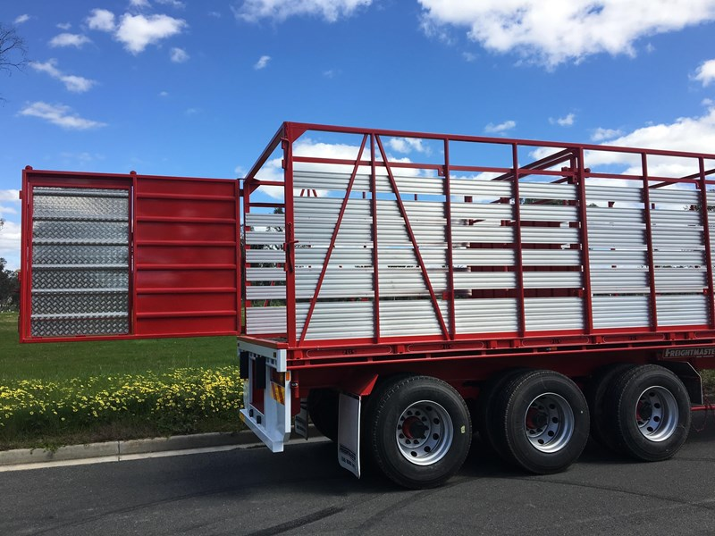 freightmaster st3 45' flat top semi trailer with removable stock crate 432939 014