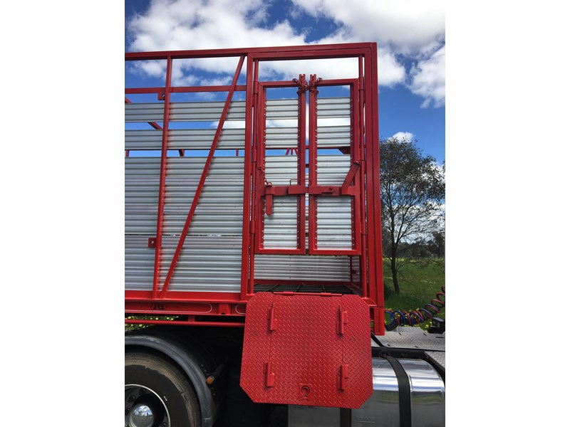 freightmaster st3 45' flat top semi trailer with removable stock crate 432939 016