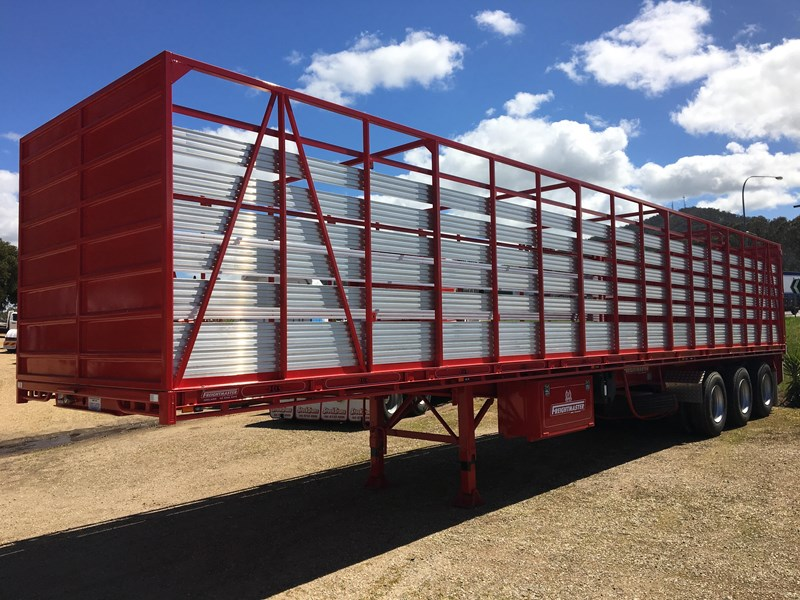 freightmaster st3 45' flat top semi trailer with removable stock crate 432939 017